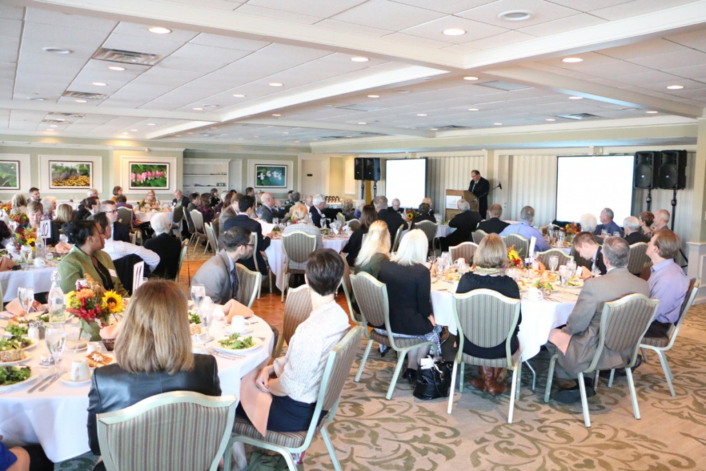 Rosecrance President/CEO Philip Eaton speaks at the second Rosecrance Forum, which took place at the Rockford Country Club on Nov. 4, 2015.